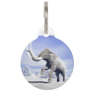 Mammoth in the wind pet tag