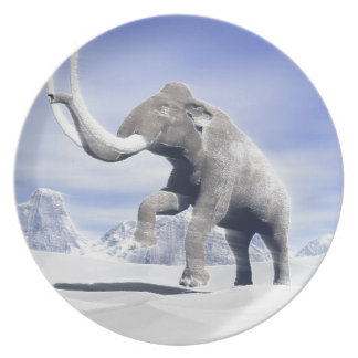 Mammoth in the wind plate
