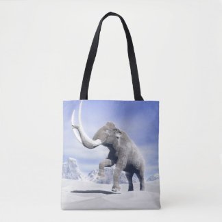 Mammoth in the wind tote bag