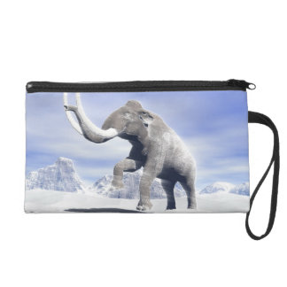 Mammoth in the wind wristlet clutches