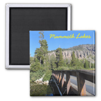 Mammoth Lakes, CA Square Magnet