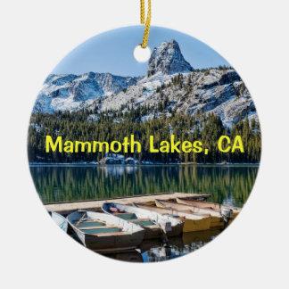 Mammoth Lakes Keepsake Ceramic Ornament
