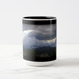 Mammoth Lakes MInarets View Two-Tone Coffee Mug