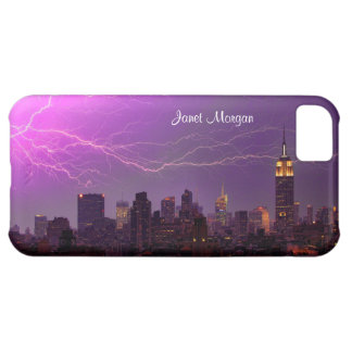 Mammoth Lightning Strike Over Midtown NYC Skyline Cover For iPhone 5C