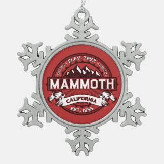 Mammoth Logo Pewter Snowflake Ornament