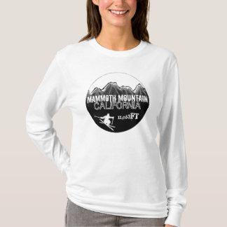Mammoth Mountain California black white ski hoodie