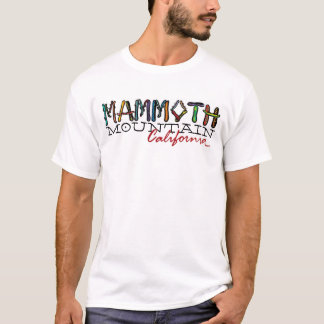 Mammoth Mountain California guys snowboard tee