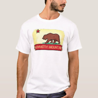 Mammoth Mountain California guys state flag tee