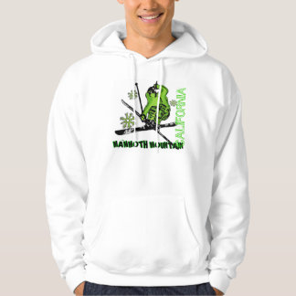 Mammoth Mountain California neon green ski hoodie