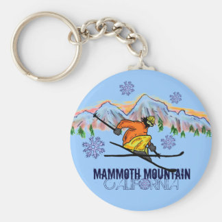 Mammoth Mountain California ski mountain keychain