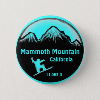 Mammoth Mountain California snowboard art button