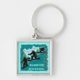 Mammoth Mountain California snowboarders keychain