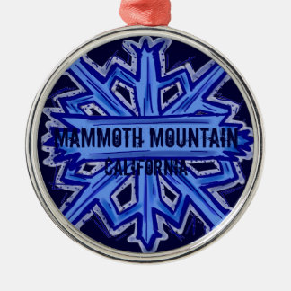 Mammoth Mountain California snowflake ornament