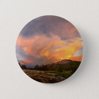 Mammoth Mountain Sunset from Minaret Summit 2 Inch Round Button
