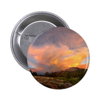 Mammoth Mountain Sunset from Minaret Summit 2 Inch Round Button