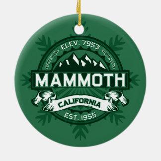 Mammoth Mtn Forest Ceramic Ornament