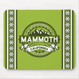 Mammoth Mtn Green Mouse Pad