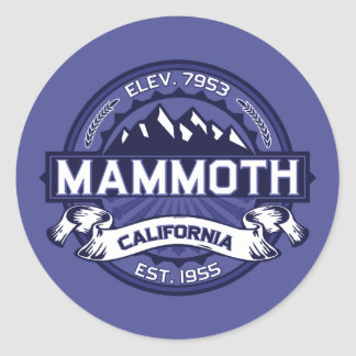 Mammoth Mtn Midnight Classic Round Sticker