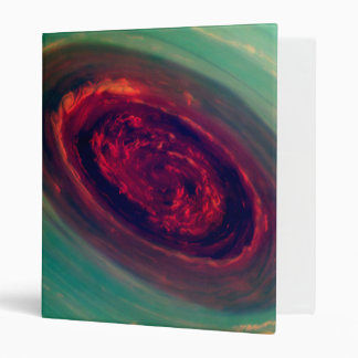 Mammoth Red Storm on Planet Saturn 3 Ring Binder