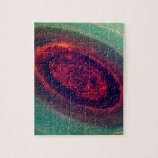 Mammoth Red Storm on Planet Saturn Puzzles