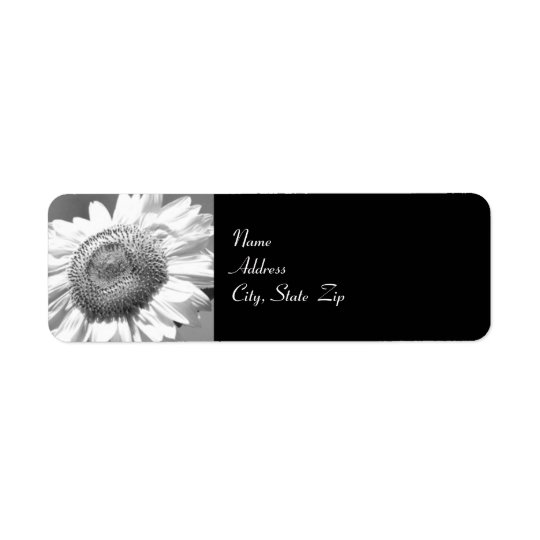 Mammoth Sunflower Wedding Return Address Label