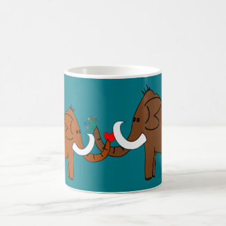 Mammoths in love coffee mug