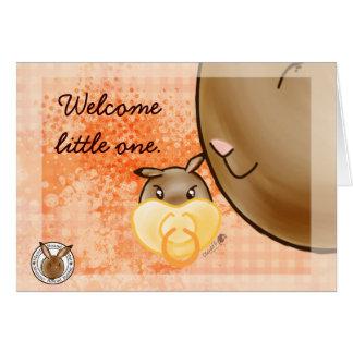 Mammy Round Rabbit-little one Card