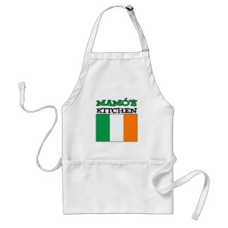 Mamo's Kitchen With Flag Of Ireland Standard Apron