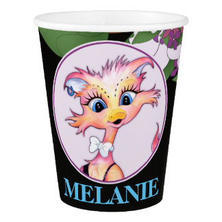 MAMZELL 2 CUTE CARTOON  Paper Cup, 9 oz Paper Cup