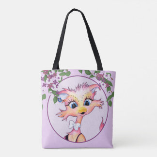 MAMZELL CARTOON  All-Over-Print Tote Bag MEDIUM