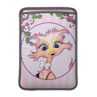 "MAMZELL CUTE  CARTOON Macbook Air 13"" Vertical MacBook Sleeve"