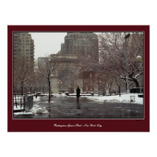 Man Alone, New York City Poster Print