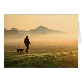 Man and Dog Mountain Mist Card