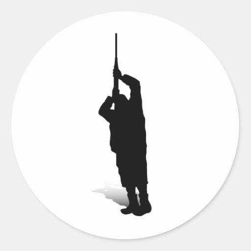 Man and Gun 3 Round Sticker