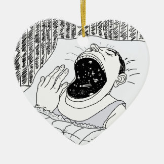 MAN AND THE COSMOS CERAMIC ORNAMENT