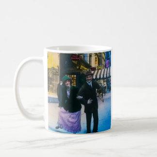 Man and woman dance on street 1900 NYC Coffee Mug
