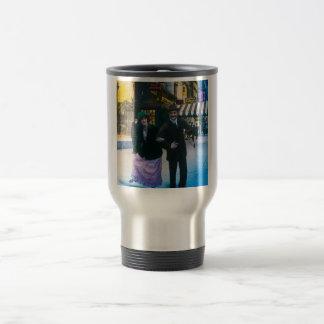Man and woman dance on street 1900 NYC Travel Mug