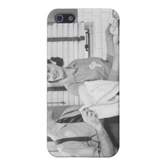 Man and Woman Doing Dishes iPhone 5 Cases
