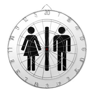 man and woman graphic dartboards