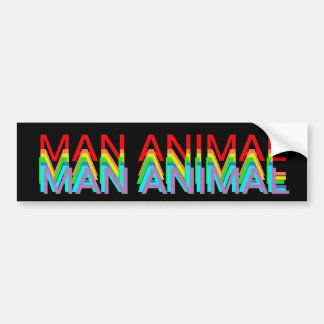 MAN ANIMAL STICKER