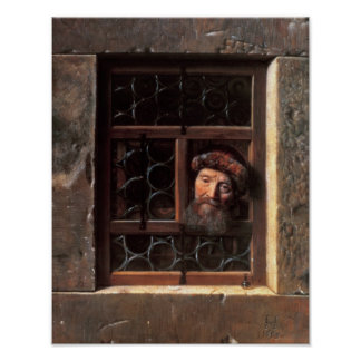 Man at a Window, 1653 Poster