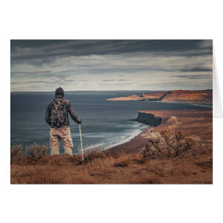 Man at Highs Contemplating The Landscape Card