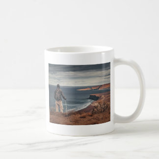 Man at Highs Contemplating The Landscape Coffee Mug
