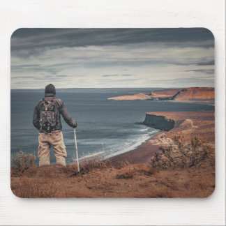 Man at Highs Contemplating The Landscape Mouse Pad