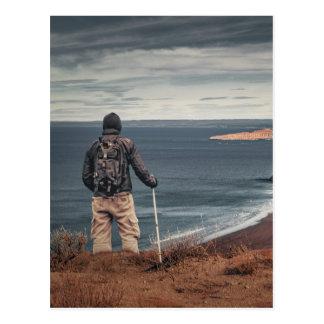 Man at Highs Contemplating The Landscape Postcard