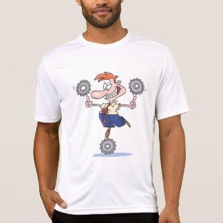 Man Balancing Cogs Mens Active Tee