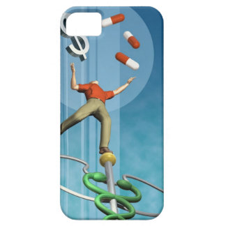 Man balancing drugs and dollar sign iPhone 5 cover