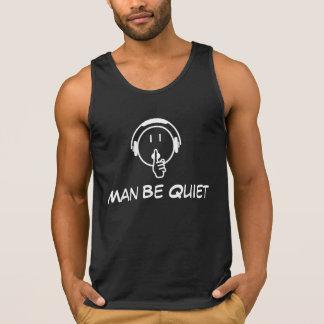 Man Be Quiet logo dark colour Tank Top – Men's