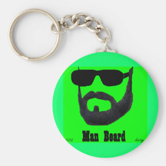 Man Beard Basic Button Keychain Set by: da'vy