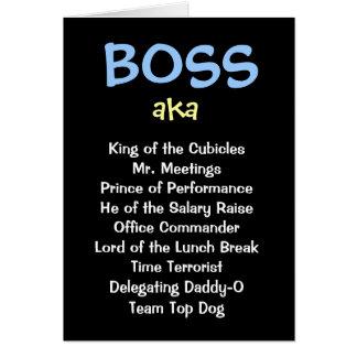 Man Boss Christmas Card - aka Funny Job Titles